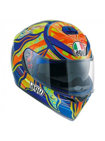 Мотошлем AGV K-3 SV Top Five Continents Orange-Green-Blue L