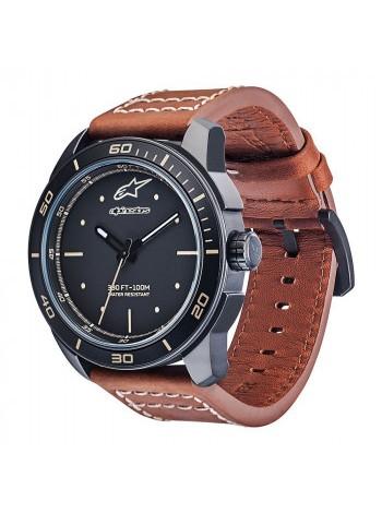 Часы Alpinestars Tech Watch 3H Matt Black-Brown