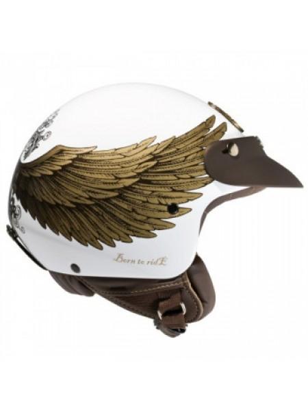 Mотошлем Nexx X60 Eagle Rider White-Gold