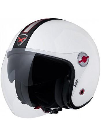 Мотошлем Nexx X70 Groovy White-Black XXL