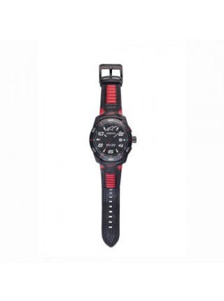 Часы Alpinestars Tech Watch 3H Black-Red Leather-Black-Red