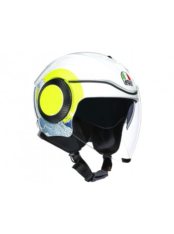 Мотошлем AGV Orbyt E2205 Sunset White-Yellow Fluo M