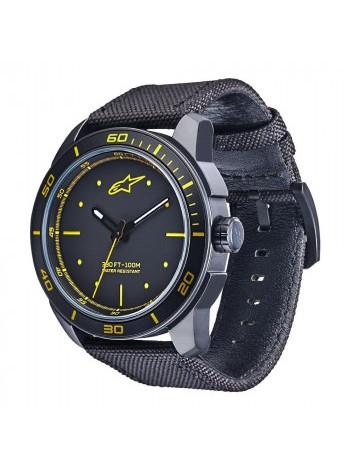 Часы Alpinestars Tech Watch 3H Black-Yellow
