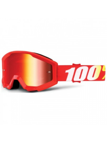 Мотоочки детские 100% Strata JR Goggle Furnace - Mirror Red Lens