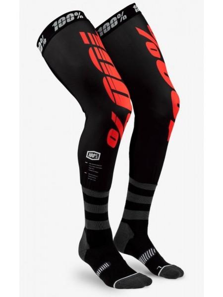 Мото шкарпетки Ride 100% REV Knee Brace Performance Moto Socks Black Red S M