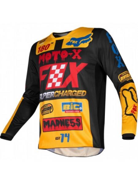 Мотоджерси Fox Youth 180 Czar Jersey Black-Yellow XL