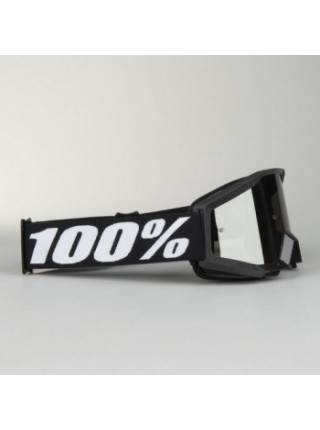 Мотоочки подростковые 100% Strata Jr. Goliath - Mirror Silver Lens