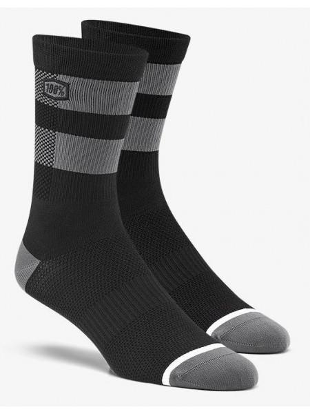 Вело шкарпетки Ride 100% FLOW Performance Socks Black Grey S M