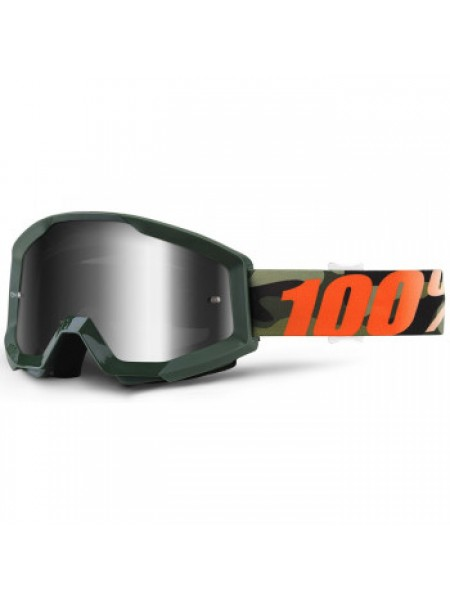 Мотоочки 100% Strata Goggle Huntsitan - Mirror Silver Lens
