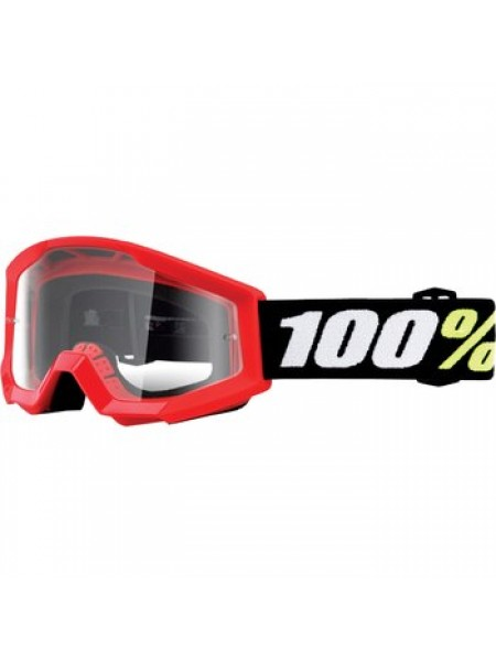 Детские мото очки 100% Strata JR Goggle Nation - Mirror Red Lens
