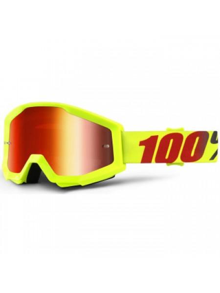 Мотоочки 100% Strata Goggle Mercury - Mirror Red Lens