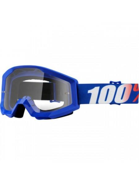 Мотоочки 100% Strata Moto Goggle Nation - Clear Lens