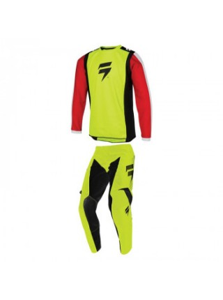Мотоджерси детская SHIFT Whit3 Race Jersey 2 Flo Yellow YXL
