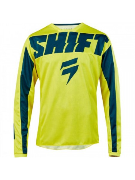 Мотоджерси детская Shift Youth Whit3 York Jersey Yellow-Navy Y