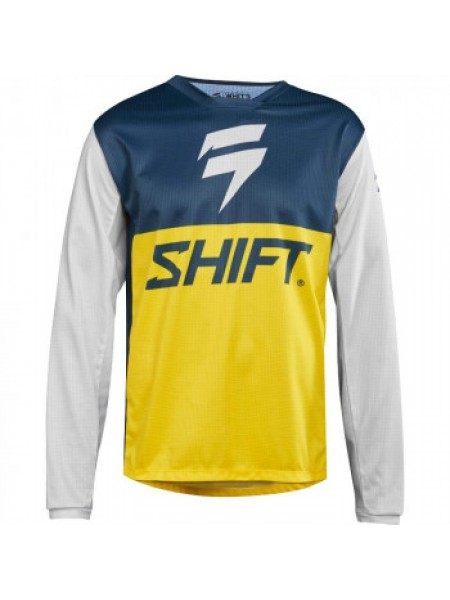 Мотоджерси Shift Whit3 Label GP LE Jersey Navy Yellow XL