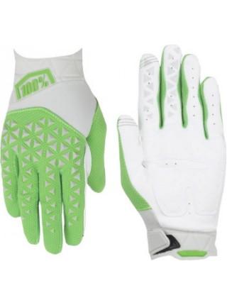 Мотоперчатки 100% Airmatic Glove Silver-Fluo Lime XL (11)