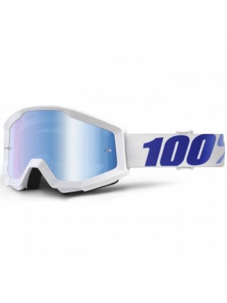 Мотоочки 100% Strata Goggle Equinox - Mirror Blue Lens