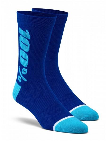 Вело шкарпетки Ride 100% RYTHYM Merino Wool Performance Socks Blue S M