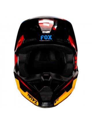 Мотошлем детский Fox V1 Czar Black-Yellow YS