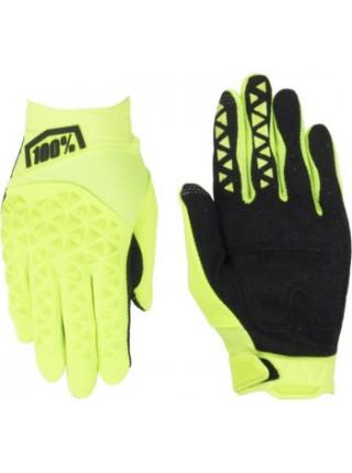 Мотоперчатки 100% Airmatic Glove Fluo Yellow-Black M (9)