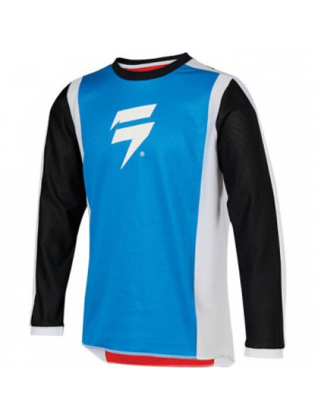 Мотоджерси детская SHIFT Whit3 Race Jersey 2 Red-Blue YXL