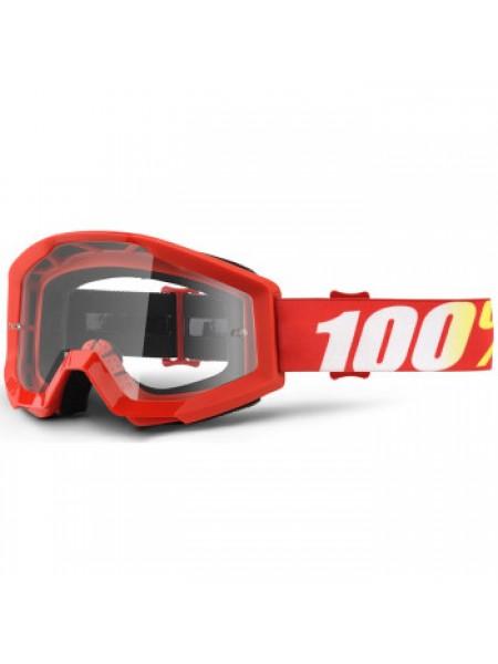 Мотоочки 100% Strata Moto Goggle Furnace - Clear Lens