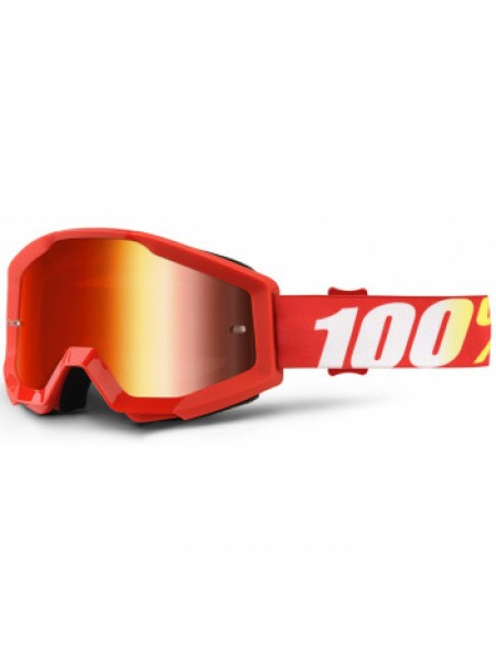 Мотоочки 100% Strata Goggle Furnace - Mirror Red Lens