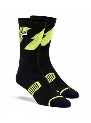 Шкарпетки Ride 100% BOLT Performance Socks Lime S M