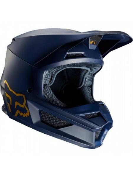 Мотошлем FOX V1 SE Helmet Navy Gold 2XL