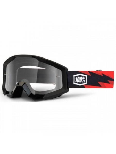 Мотоочки 100% Strata Moto Goggle Slash - Clear Lens