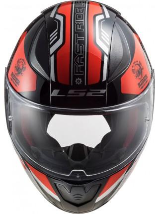 Мотошлем LS2 FF353 RAPID STRATUS GLOSS BLACK RED SILVER