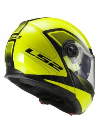 Мотошлем LS2 FF325 Strobe Civik Hi Vis Yellow Black