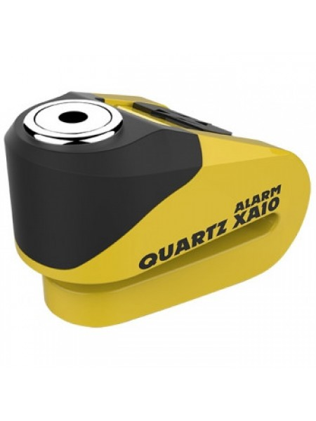 Мотозамок Oxford Quartz Alarm XA10 disc lock (10mm pin) Yellow-Black