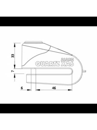 Мотозамок Oxford Quartz Alarm XA6 disc lock (6mm pin) Yellow-Black