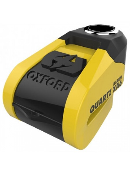 Мотозамок Oxford Quartz Alarm XA6 disc lock (6mm pin) Yellow-Black