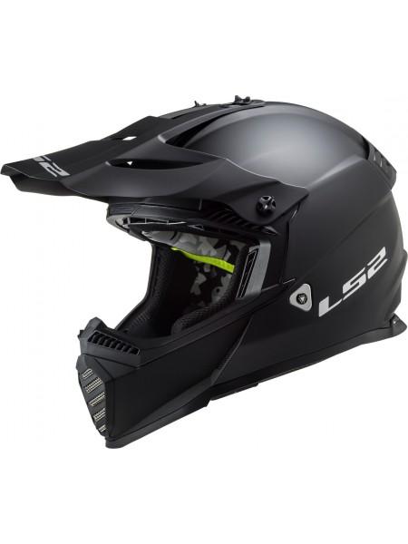 Мотошлем LS2 MX437 FAST EVO MATT BLACK