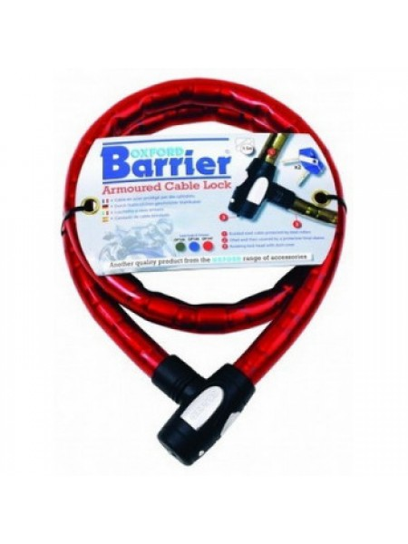 Мотозамок Oxford Barrier Armoured Cable Lock Red