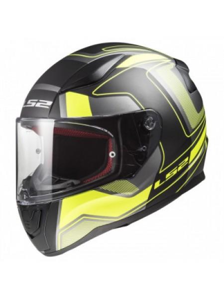 Мотошлем LS2 FF353 Rapid Carrera Black Hi Vis Yellow