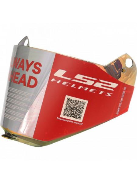 Визор для мотошлема LS2 MX436 Iridium Gold