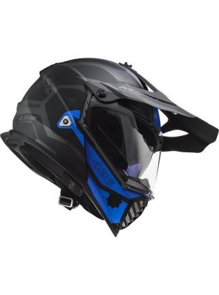 Мотошлем LS2 MX436 PIONEER EVO COBRA MATT BLACK BLUE