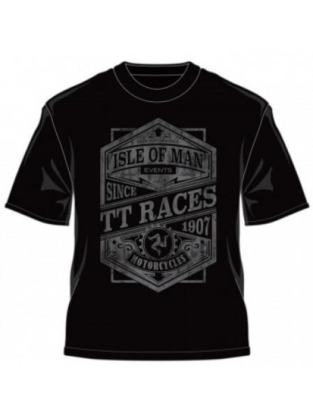 Футболка IOMTT Races since 1907 Retro T-Shirt Black