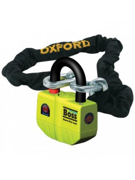 Мотозамок с сигнализацией Oxford Boss Alarm Lock and Chain 12mm x 2.0m