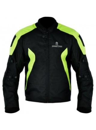 Мотокуртка Oxford Spartan Short Jacket Black-Fluo 2XL