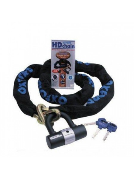 Мотозамок-цепь Oxford HD Loop Chain Lock 1.2 mtr x 10mm
