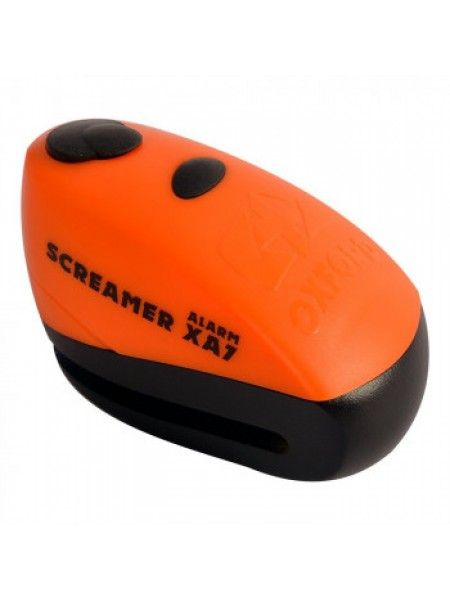 Мотозамок Oxford ScreamerXA7 Alarm Disc Lock Orange-Matt Black