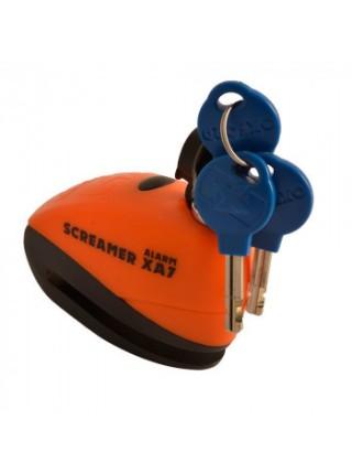 Мотозамок Oxford ScreamerXA7 Alarm Disc Lock Orange-Matt Black