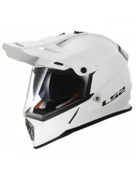 Мотошлем LS2 MX436 Pioneer Gloss White