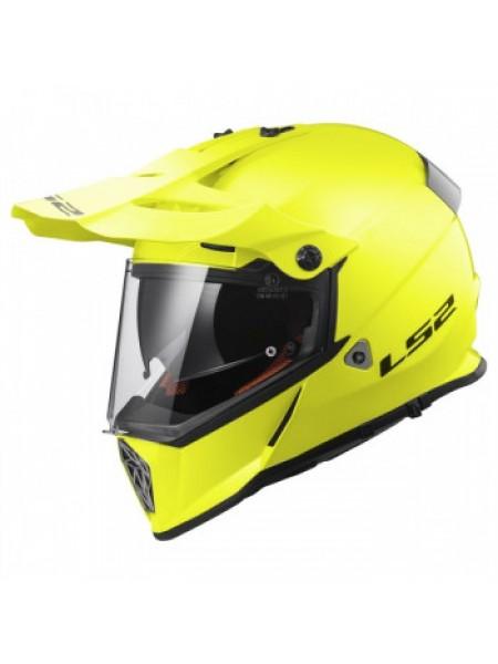 Мотошлем LS2 MX436 Pioneer Gloss Hi Viz Yellow