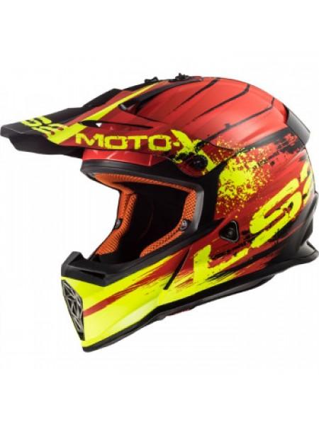 Мотошлем LS2 MX437 Fast Gator Red