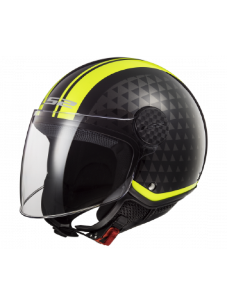 Мотошлем LS2 OF558 Sphere Lux Crush Black Hi Vis Yellow